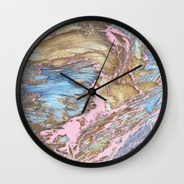 Woody Pink Wall Clock