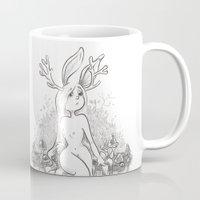 jackalope Mugs featuring Jackalope by Laeti Vanille