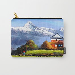 Panoramic View Of Beautiful Everest Mountain Carry-All Pouch