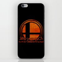 super smash bros iPhone & iPod Skins featuring Super Smash Bros.  by Donkey Inferno