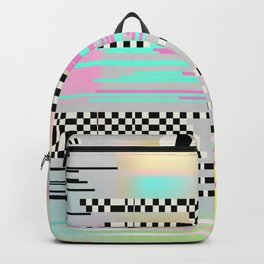 Glitch art effect Backpack