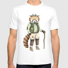 Red Panda Ranger White 2X-LARGE Mens Fitted Tee