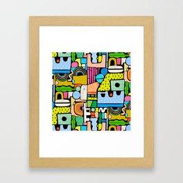 Color Block Collage Framed Art Print