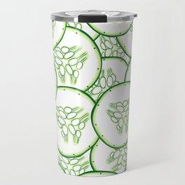 Cucumber slices pattern design Travel Mug