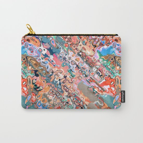Colorful Textured Abstract  Carry-All Pouch