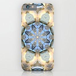 Blue And Gold Mandala iPhone Case