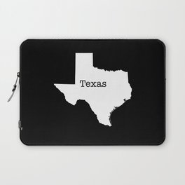 Texas State outline  Laptop Sleeve