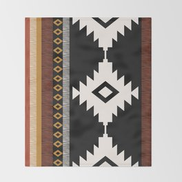 Pueblo in Sienna Throw Blanket