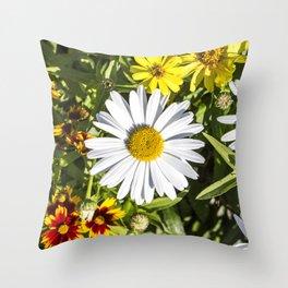 Daisy / In The Garden Throw Pillow