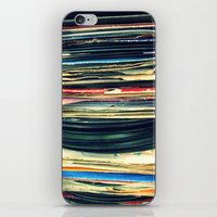 music iPhone & iPod Skins featuring put your records on by Bianca Green