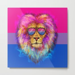 The Bi Lion Pride Metal Print