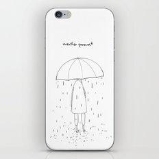 weather forecast iPhone & iPod Skin