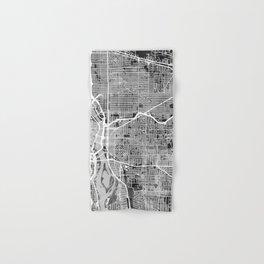 Portland Oregon City Map Hand & Bath Towel
