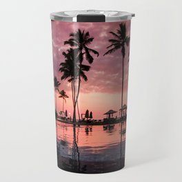 Serene Coconut Trees On Poolside Travel Mug