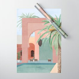 Moroccan Pool Wrapping Paper