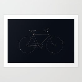 Bike Constellation Art Print