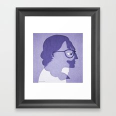 The cat inside Framed Art Print