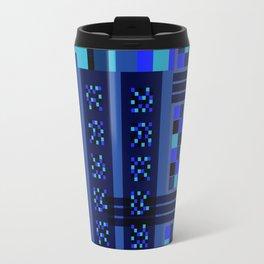 Movimiento de cuadritos azules · Glojag Travel Mug