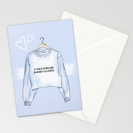 Sarcasm sweater Stationery Cards