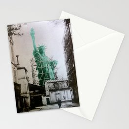Statue of Liberty construction Stationery Cards
