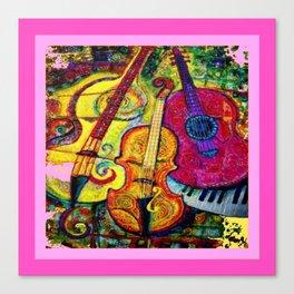 Rose Color Guitar String Instruments Canvas Print