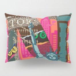 Mews in NewYork (Typography) Pillow Sham