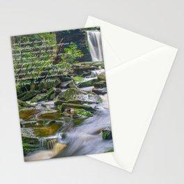 Lao Tsu Quote Zen Waterfall Print Stationery Cards