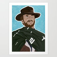 clint eastwood Art Prints featuring Clint Eastwood by  Steve Wade (Swade)