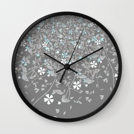 Demiboy Pride Scattered Falling Flowers and Leaves Wall Clock