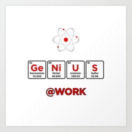 Elemental Ge Ni U S @Work Art Print