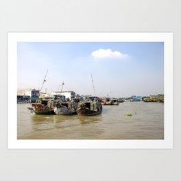 Cai Be Floating Market Art Print