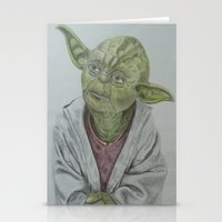 yoda Stationery Cards featuring Yoda by nosila.art