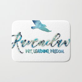 Wit, learning, wisdom Bath Mat