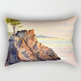 Pebble Beach Lone Cypress Tree Rectangular Pillow