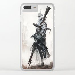 Apparition of War Clear iPhone Case