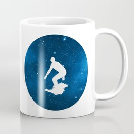Groovy Space Surfer Silhouette Coffee Mug