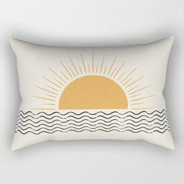 Sunrise Ocean -  Mid Century Modern Style Rectangular Pillow