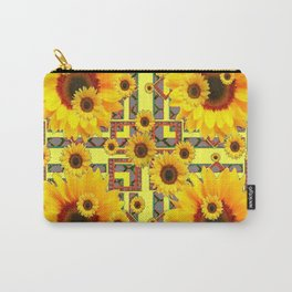 KANSAS WESTERN STYLE YELLOW SUNFLOWER FLORAL Carry-All Pouch