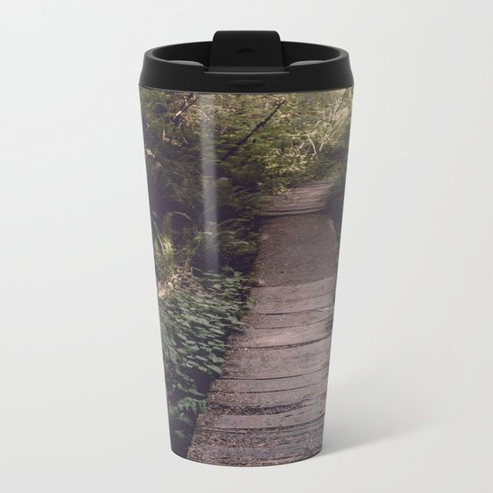 Pacific Northwest Forest Trail Metal Travel Mug