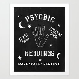 Psychic Readings Fortune Teller Art Art Print