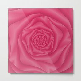 Spiral Rose in Pink Metal Print