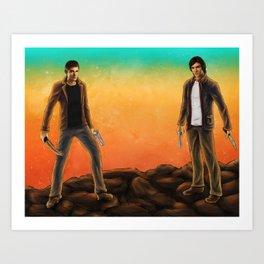 Supernatural Hunters Art Print