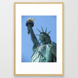 The Statue of Liberty in New York City 4 Framed Art Print