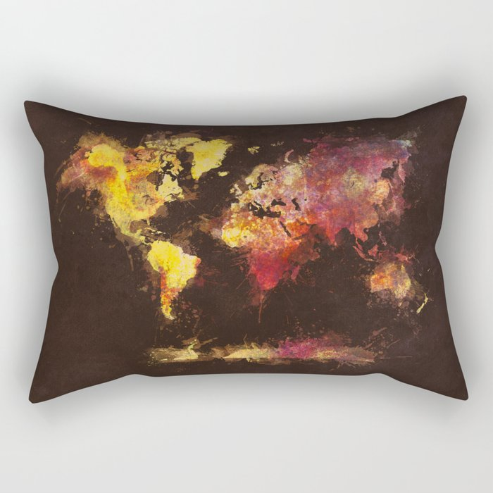 world map 63 Rectangular Pillow