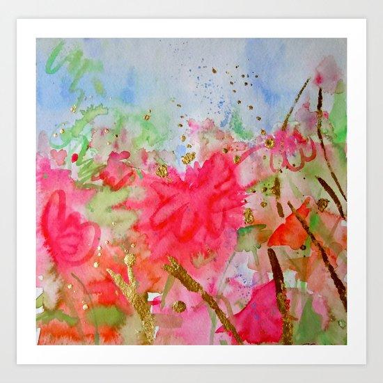 Le Jardin Coral Art Print