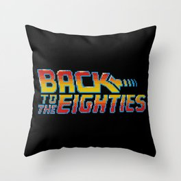Back To The Eighties Throw Pillow