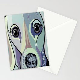 Dachshund in Denim Colors Stationery Cards