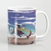 courage Mugs featuring Courage by Carlos Canessa