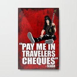 SLASH Quote Metal Print