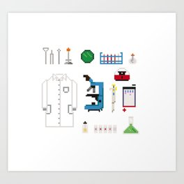 Microbiologist Tools Art Print